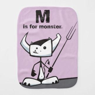 M is for Monster Burp Cloths