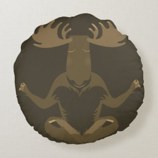 M is for Moose Round Cushion