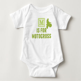 M Is For Motocross Baby Bodysuit
