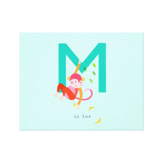M is for... stretched canvas print