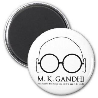 M. K. Gandhi - Be the Change 6 Cm Round Magnet