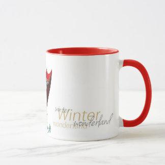 M letter winter mug