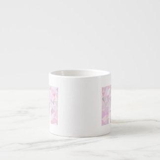 M - Low Poly Triangles - Neutral Pink Purple Gray Espresso Mug
