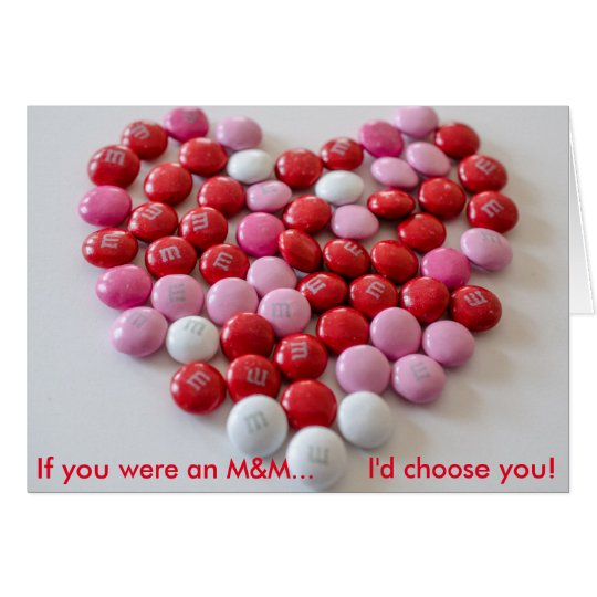 M&M Valentine's Day Card
