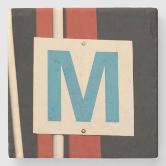 M - Marble Stone Coaster
