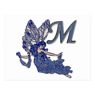M Monogram Angel Postcard