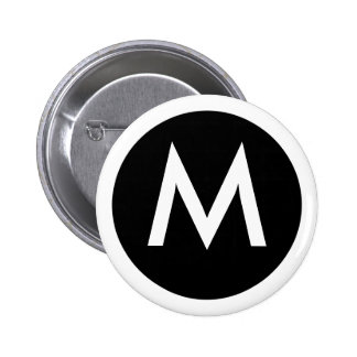M Monogram Badge Button