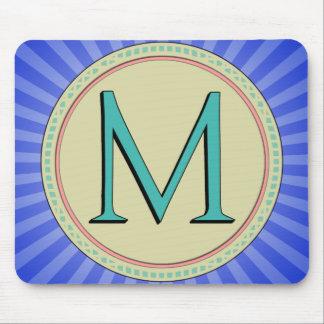 M MONOGRAM LETTER MOUSE PAD