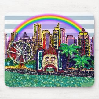 M-Pad | Luna Park Sydney Rainbow Stripes Mouse Pad