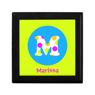M Personalized Name and Initial Girls Jewelry Box