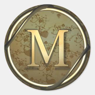 m round sticker