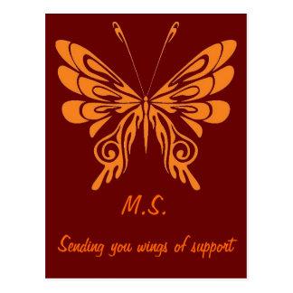 M.S. Butterfly Postcard