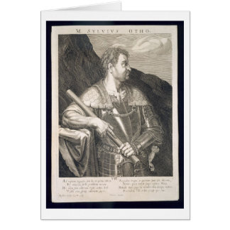 M. Silvius Otho Emperor of Rome 68 AD engraved by Greeting Card