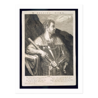 M. Silvius Otho Emperor of Rome 68 AD engraved by Postcard
