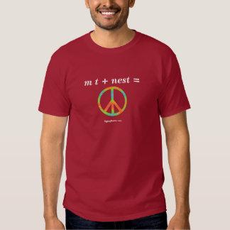 m t + nest = peace t-shirt