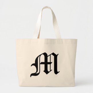 M-text Old English Large Tote Bag