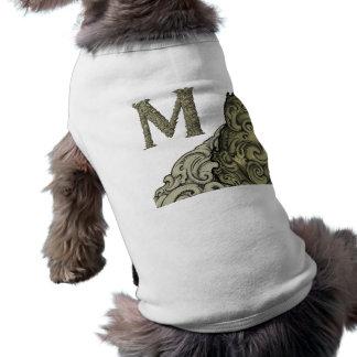M - The Falck Alphabet (Golden) Sleeveless Dog Shirt