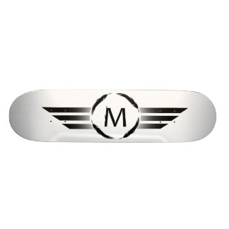 M with stripes skateboards