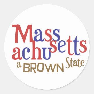 MA Brown State - Massachusetts' Sen. Scott Brown Stickers