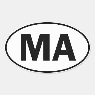 MA Oval Identity Sign Oval Sticker