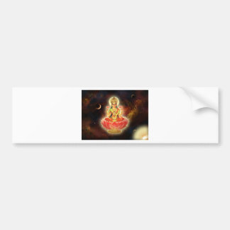 Maa Maha Lakshmi Devi Laxmi Goddess of Wealth Bumper Sticker