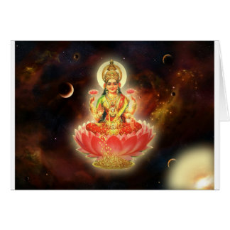 Maa Maha Lakshmi Devi Laxmi Goddess of Wealth Greeting Card