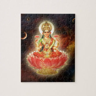 Maa Maha Lakshmi Devi Laxmi Goddess of Wealth Jigsaw Puzzle