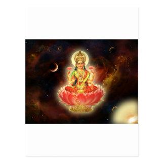 Maa Maha Lakshmi Devi Laxmi Goddess of Wealth Postcard