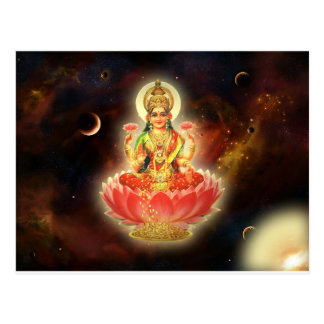MAA MAHALAXMI DEVI INDIAN GODDESS OF WEALTH/ FORTU POSTCARD