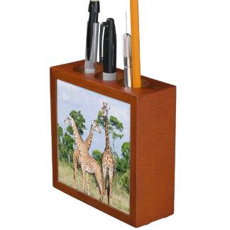 Maasai Giraffe Desk Organiser