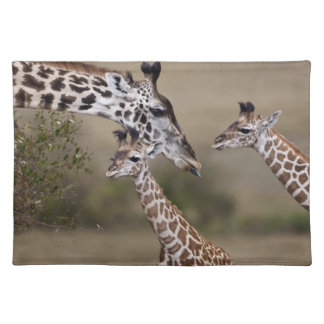 Maasai Giraffe (Giraffe Tippelskirchi) as seen Placemat