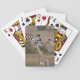Maasai Giraffe (Giraffe Tippelskirchi) as seen Playing Cards