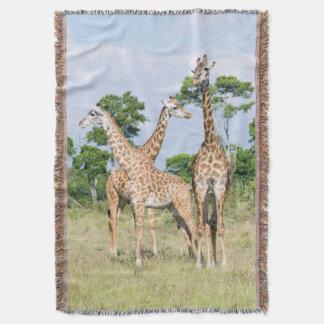 Maasai Giraffe Throw Blanket