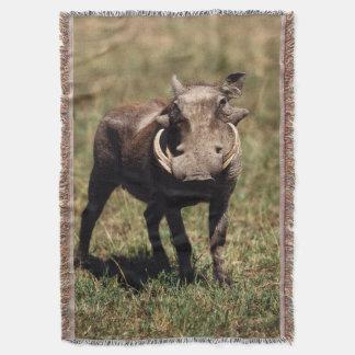 Maasai Mara National Reserve, Desert Warthog Throw Blanket