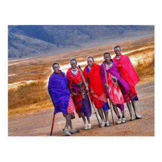 Maasai Men Postcard