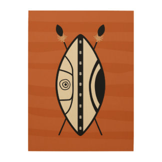 Maasai Shield Wood Wall Art