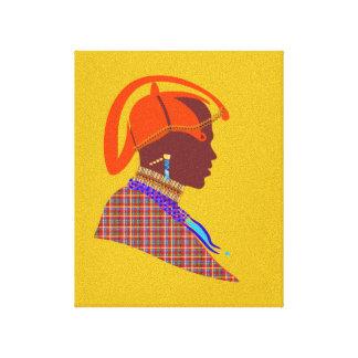 Maasai Warrior digital art canvas living room wall Stretched Canvas Prints
