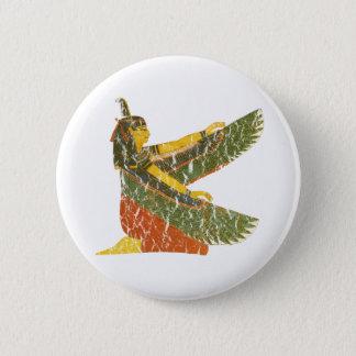 Maat kneeling 6 cm round badge