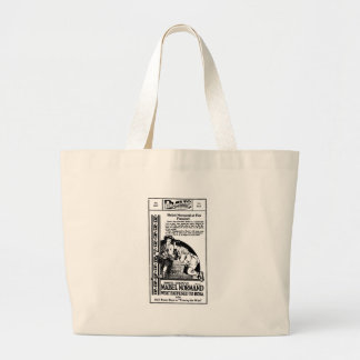 Mabel Normand vintage silent movie ad Canvas Bag