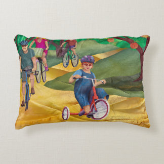 Mabell's Days, Riding My Bike Decorative Cushion