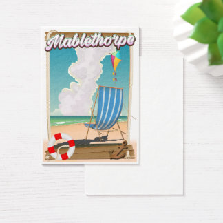 Mablethorpe Holiday poster Business Card