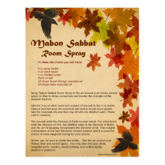 Mabon Room Spray Postcard
