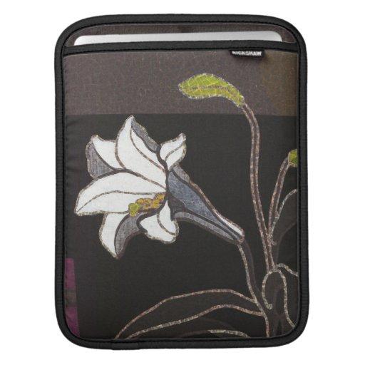 Mabuchi Toru Lilies ukiyo-e vintage fine art Sleeves For iPads