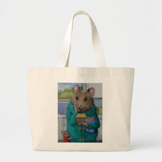 """Mac and Cheese"" Mother mouse contemplates dinner Canvas Bag"