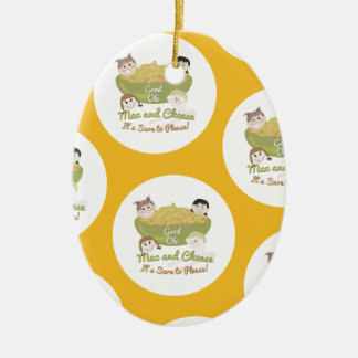Mac and Cheese Please Pattern Christmas Ornament