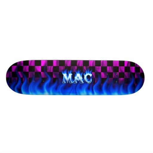 Mac blue fire Skatersollie skateboard
