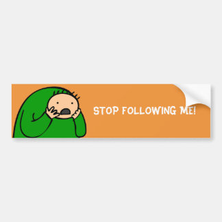 Mac Bumper - Stop Following Me (Orange) Bumper Sticker
