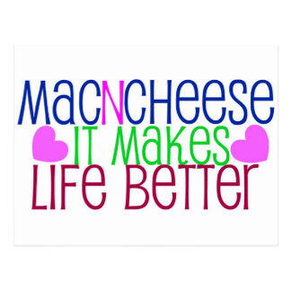Mac Cheese Life Postcard