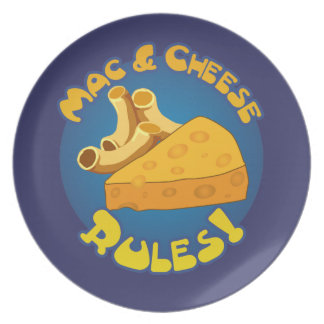 Mac & Cheese Rules Plate