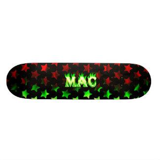 Mac green fire Skatersollie skateboard
